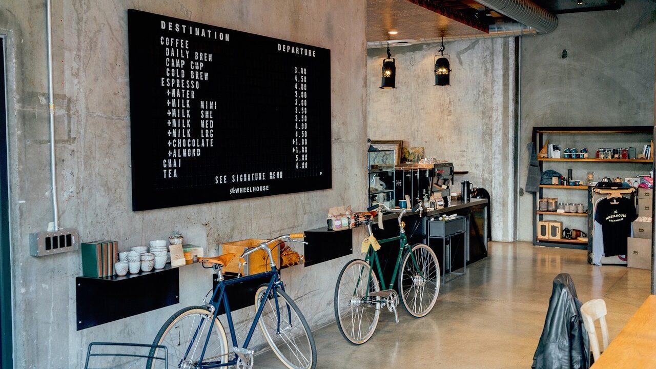 カフェの店内の雰囲気風の画像
